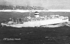 Rough seas heading into Sydney Harbour Merchant Navy, Stormy Sea, Cruise Ships, Black Sea, Liverpool, Sailing, The Past, Rough Seas, Ocean
