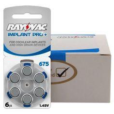 Krabička Baterie Rayovac 675 IMPLANT Pro+