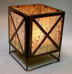 Recycled circuit board candle holder