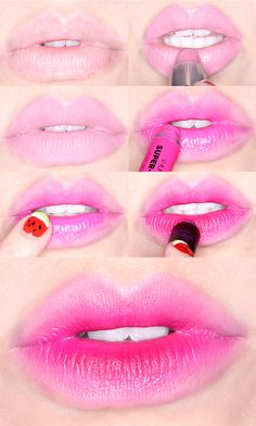Popsicle stained lips (because summer is far from over in our book!). #beauty #makeup #lips