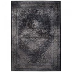 tapis de salon iranien rugged gris dutchbone - Tapis Vintage