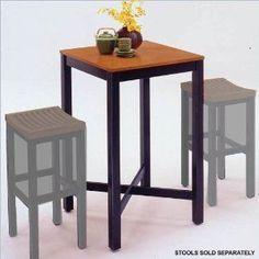 bar table -- kitchen, to match orange striped, black metal stools
