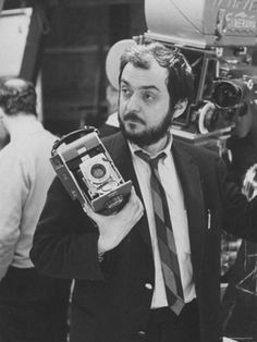 Stanley Kubrick with a Polaroid