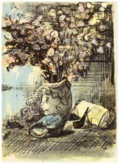 "Vincent van Gogh: ""Honesty in a Vase"" - Letter Sketches, Nuenen: 1-Apr, 1885 Van Gogh Museum, Amsterdam, The Netherlands"