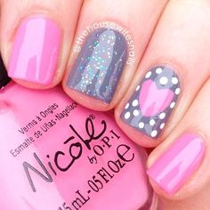 Try some of these designs and give your nails a quick makeover, gallery of unique nail art designs for any season. The best images and creative ideas for your nails. Fancy Nails, Trendy Nails, Diy Nails, Sparkle Nails, Posh Nails, Cute Pink Nails, Pink Gel, Pink Nail Art, Opi Pink