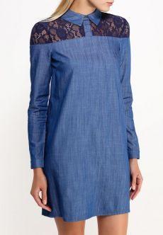 Suit Fashion, Denim Fashion, Look Fashion, Fashion Outfits, Demin Dress, Kaftan Designs, Estilo Jeans, Mode Jeans, Denim And Lace