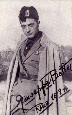 Giuseppe Bottai - Ritratto in divisa della milizia fascista