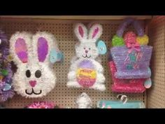 """Join Me in checking out the Decorations & Basket Fillers I thought were unique & good value """"PLUS"""" Decorating Ideas. More stores to explore, so stay tuned! Easter Bunny Decorations, Easter Decor, Rose Dome, Easy Youtube, Basket Decoration, Spring Fever, Super Easy, Goodies, Wreaths"""