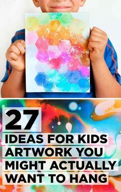 27 Ideas For Kids Artwork You Might Actually Want To Hang  Art journaling ideas -tissue paper  -negative space  -oil and water