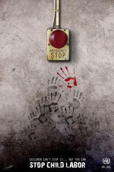 the one bloody hand print along with how close it the button. super though provoking and powerful.