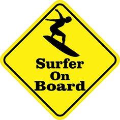 """4.5"""" x 4.5"""" Surfer On Board Bumper Sticker Decal Vinyl Window Stickers Decals"""