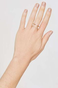 Luv AJ Barbell 14K Gold-Plated Ring - Accessories