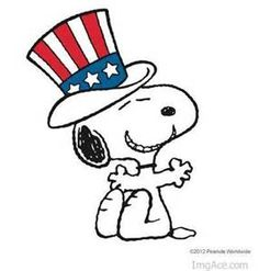 Snoopy wishes you a Safe, Happy Fourth of July!!