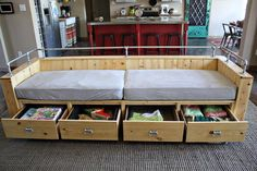 Ana White | Build a Modern Wood Storage Sofa | Free and Easy DIY Project and Furniture Plans