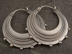 Earrings | Chuck Domitrovich. Sterling silver