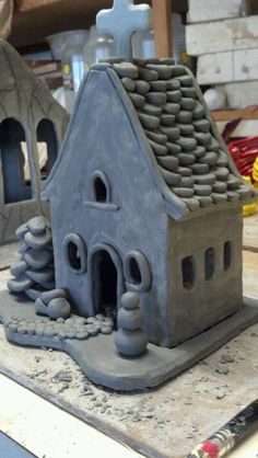 Ceramic church #clay houses#