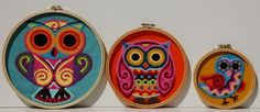 Owl Embroidered Wall Hoop Art #wall #embroidery #hoop