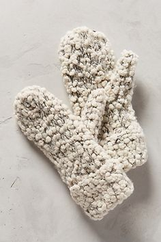 Popcorn Mittens #anthroregistry #cute #gift