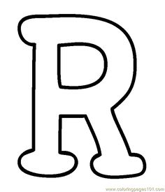 big r free alphabet coloring pages printable and coloring book to print for free. Find more coloring pages online for kids and adults of big r free alphabet coloring pages to print. Coloring Letters, Alphabet Coloring Pages, Coloring Pages To Print, Printable Coloring, Stencil Lettering, Block Lettering, Alphabet Capital Letters, Alphabet And Numbers, Bubble Letters