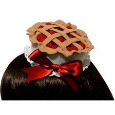 Sweet Cherry Pie Gothic and Lolita Hat or Headband Made to Order ($45) ❤ liked on Polyvore featuring accessories, hats, brown felt hat, gothic hats, christmas hat, red hat and red christmas hat