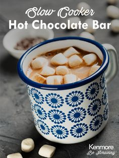 This Hot Chocolate Bar will be the hit at your next holiday party.
