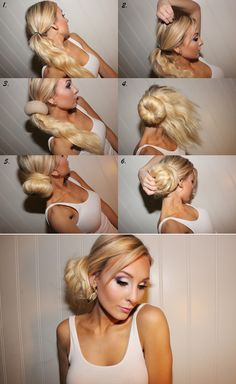 Hair bun tutorial...okay ladies, we all love those soc buns, but honestly we all have heard how to do them but we haven't been taught directly! So here we are!