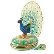 Limoges Fantail Box Peacock Decor, Peacock Bird, Peacock Colors, Paons, Peacock Pictures, Seashell Candles, Music Boxes, Pretty Box, Pill Boxes