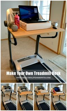 Make your own treadmil desk-  Yes please! Dreaming of this!