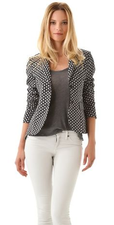 Rag & Bone Bailey Jacket  Love chevron print. Can be edgy or not.