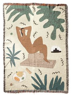 A New Tribe offers a unique selection of home textiles including wall hangings, blankets, throws and cushions sourced from cult independent designers including BFGF (The Jungle Blanket and many more), LRNCE and Cold Picnic. Tapis Funky, Home Deco, Weaving Process, Textiles, Cotton Blankets, Cultura Pop, My New Room, Modern Wall, Design Studios
