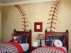 This Baseball Bedding Never Strikes Out The Theme Of These Bed Coordinates Will Give Your Little Sluggers Room Supercool Style Hell Lo