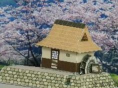 Simple Japanese Water Mill Free Building Paper Model Download