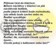 Přijímací test do blázince   Vtipné obrázky - obrázky.vysmátej.cz