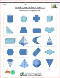 3d shapes worksheets image