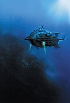 "The Nautilus - the famous atomic sub from Jules Verne's ""20,000 Leagues Under the Sea"".  Is this sci-fi steampunk classic has inspired millions."