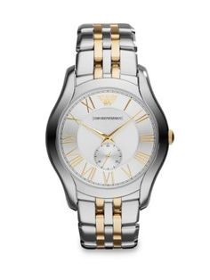 e0f25ef3 EMPORIO ARMANI Two-Toned Stainless Steel Watch. #emporioarmani Armani  Collection, Emporio Armani