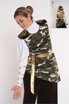 Camoufloge Tunic w/Back Shield and Sache
