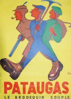 Pataugas, le brodequin souple - vers 1955 - illustration de Bellenger -