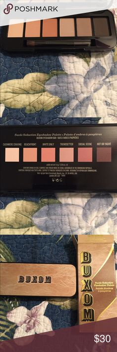NIB! BUXOM SUEDE SEDUCTION EYESHADOW PALETTE NIB! BUXOM SUEDE SEDUCTION EYESHADOW PALETTE. Never touched or swatched. Beautiful neutral colors! Authentic! Buxom Makeup Eyeshadow