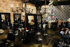 Salon idea! Love everything here!!!!!