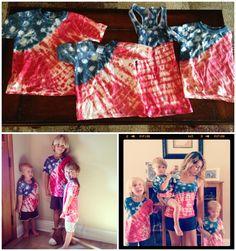 Tye dye 4th of July shirts with a tutorial
