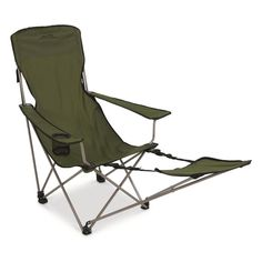 Key Features Footrest for maximum comfort polyester fabric Adjustable armrests Sturdy powder-coated steel frame Foldable design Includes carry bag with shoulder strap Outdoor Gear, Outdoor Chairs, Outdoor Furniture, Low Beach Chairs, Gear Bear, Rv Living, Mountaineering, Folding Chair, Foot Rest