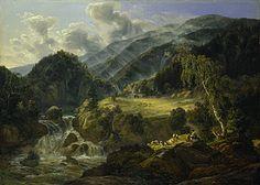 Johan Christian Dahl (1788–1857): Norwegian mountain valley, 1821, Thorvaldsens Museum