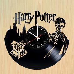 Harry Potter Handmade Vinyl Record Wall Clock Fan Gift - VINYL CLOCKS