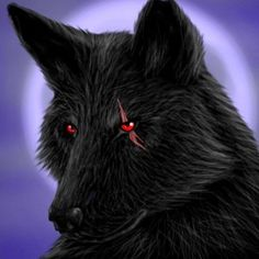 Wolf With Red Eyes, Wolf Eyes, Anime Wolf, Wolf Pictures, Pictures To Draw, Shadow Wolf, Black Beast, Wolf Husky, Alpha Wolf