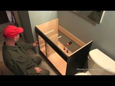 How To Install a Bathroom Vanity - YouTube