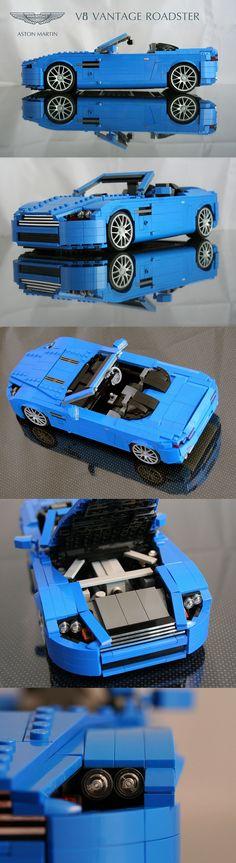Aston Martin V8 Vantage Roadster LEGO style