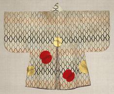 'Haori' coat. Edo period, 18th century. Japan. stencil-dyed, deerskin | The Japan Folk Crafts Museum