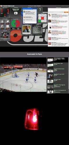 Le Forum Mise-O-Jeu de Loto-Québec réalisé en 2011 par l'agence commun. Le Forum Mise-O-Jeu permet d'accompagner une partie du Canadien avec un ensemble de widgets. (Twitter, Facebook, Photo, Vidéo, Sondage, Statistiques, WebTv, Bruits, etc..) http://blogue.commun.ca/2011/11/16/retour-vers-le-forum/