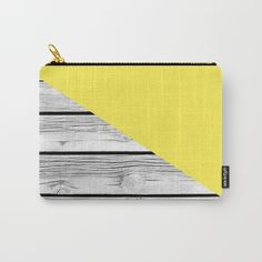 Yellow vs Wood Carry All Pouch by ARTbyJWP from Society6 - $13 #pouches #pouch #bags #stationery #yellow #wood